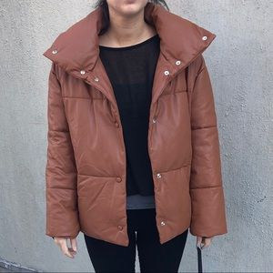 Bagatelle Faux Leather Puffer